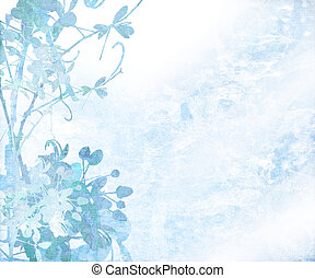Pale Elegant Flower Art Textured Background - Elegant Flower...