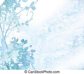 Pale Elegant Flower Art Textured Background - Elegant Flower...