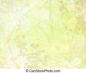 Pale Flower Art on Paper Background