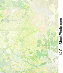 Pale Flower Art on Paper Background - Pale Flower Art on ...