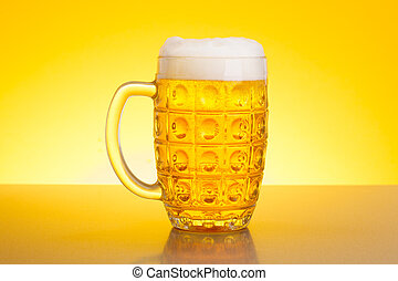 Pale lager beer - Glass full of refreshing pale lager beer