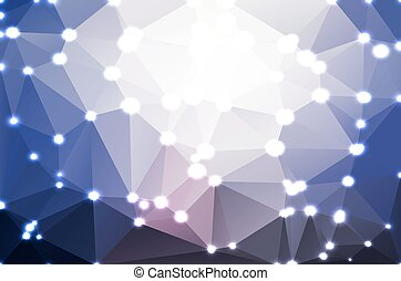 Pale pink blue geometric background with lights
