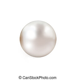 Pale pink pearl isolated on white