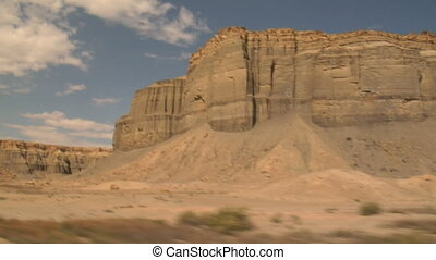 pale sandstone cliffs near Boulder Utah