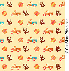 Pale seamless pattern with toys