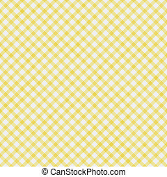 Pale Yellow Gingham Pattern Repeat Background that is seamless and repeats