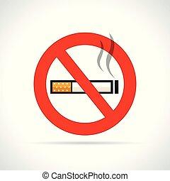 palenie, biały, znak, tło, nie