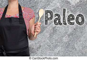 Paleo concept is shown by cook