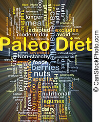 Paleo diet background concept glowing - Background concept...