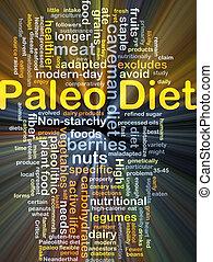 Paleo diet background concept glowing - Background concept ...