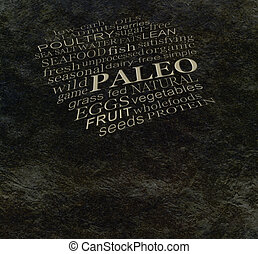 PALEO diet cave wall - - Dark stone cave wall effect...