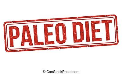 Paleo diet stamp - Paleo diet grunge rubber stamp on white...