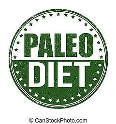 Paleo diet grunge rubber stamp on white background, vector illustration