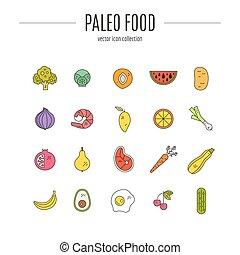 Paleo Food - Organic fruits and vegetables. Paleo diet....