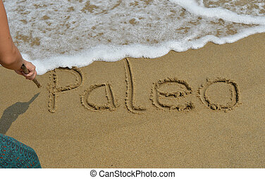 Paleo lettering - Person is writing the word Paleo in the ...