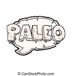 paleo texture cartoon sign - paleo freehand drawn texture...