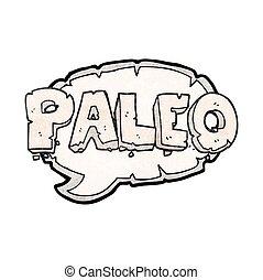 paleo texture cartoon sign - paleo freehand drawn texture...