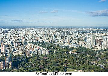 palerme, aires, jardins, buenos, argentina.