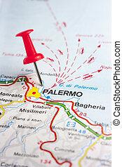 palermo, 地図