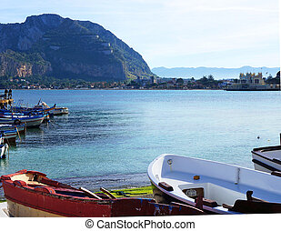 Palermo coastview with Pellegrino Mount on the background