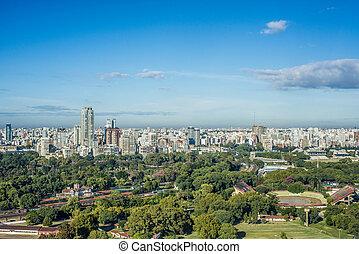 Palermo gardens in Buenos Aires, Argentina. - Palermo...