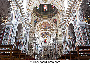 PALERMO, ITALY - MAY 28, 2013: Interior of church La chiesa...