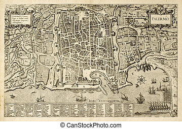 Palermo old map