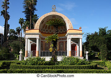 Palermo park - Villa Giulia - Palermo, Sicily, Italy. Villa...