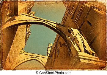 Palermo Cathedral, Sicily. Texture grunge