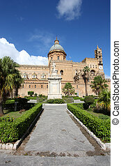 Palermo, Sicily island in Italy. Famous cathedral church.