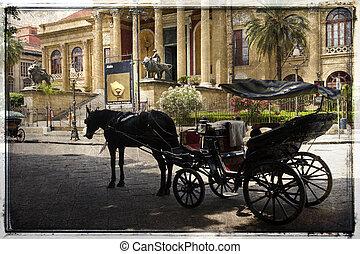 Palermo, teatro Massimo - Palermo, Sicily. Teatro Massimo ...