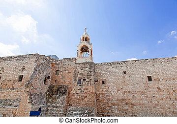 palestin., nativité, église, bethlehem., ville