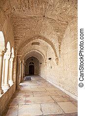 Nativity church door, bethlehem, west bank, palestine, israe