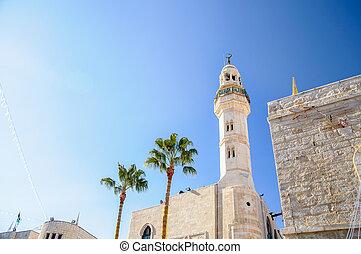 palestina, omar, mezquita, belén