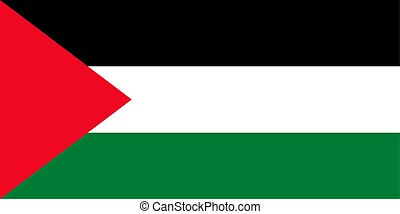 Palestine flag. Vector illustration