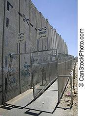 palestine, frontière