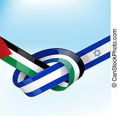 palestine, ruban, drapeau israël