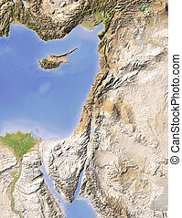 Palestine, shaded relief map - Palestine. Shaded relief map....