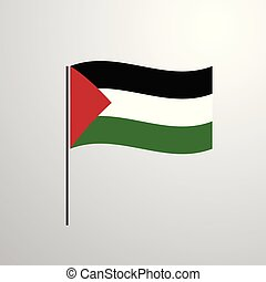 Palestine waving Flag