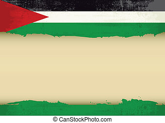 Palestinian scratched flag