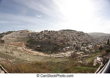Palestinian village in East Jerusalem in Israel
