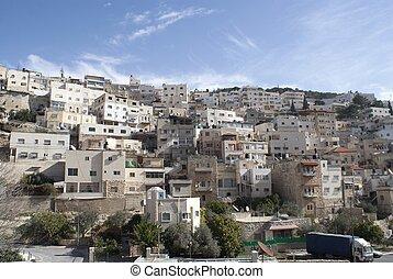 Palestinian village near Jerusalem in Israel