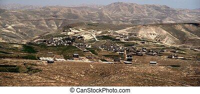 Palestinian villages in Judea desert of Israel