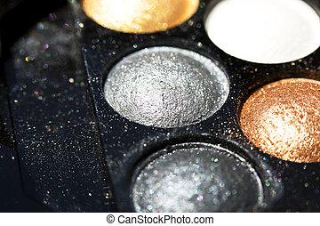 palet, oog grimeren, schaduw, schitteren