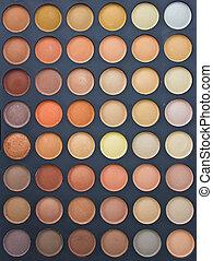 palet, oog, kleurrijke, opmaken, brush., schaduw