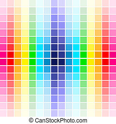palet, regenboog kleurt