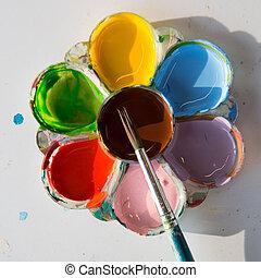 paleta, coloridos
