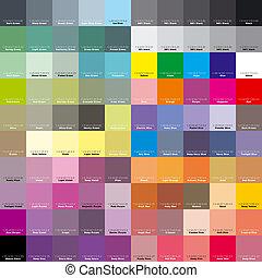 paleta, designer., artysta, eps, cmyk, 8