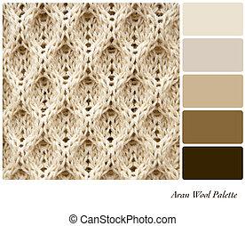 paleta, lana, aran
