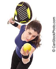 paleta, servicio del tenis